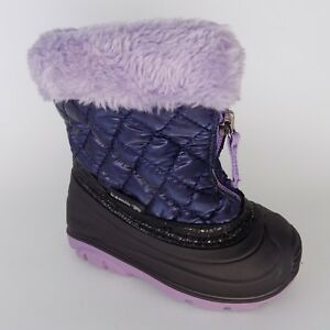 KAMIK KIDS BABY GIRLS FLUFFBALL (Toddler) BOOT NAVY WATERPROOF SZ 6 AL1534