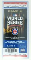 2016 Chicago Cubs vs Cleveland Indians World Series Ticket Stub Game 4 Wrigley