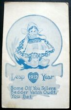 1912 Leap Year Greeting – Little Dutch Girl wearing Wooden Klompen Shoes