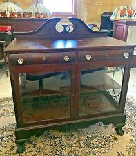 Antique Mahogany Display Case Cabinet