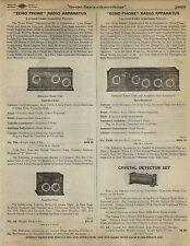 1923 Paper AD Echo Phone Radio Apparatus Detector Monroe Regenerative