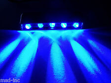 12V DC BLUE 5 LED pod D.I.Y path step accent light for home motorcycle car boat