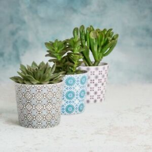 Ceramic flower pot covers