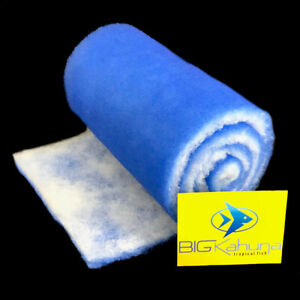 "5-FT ROLL BLUE BONDED AQUARIUM FILTER MEDIA PAD 12"" X 5' FILTER FIBER FLOSS."