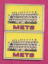 2 X 1967 TOPPS # 42 NEW YORK METS  TEAM PHOTO GOOD CARD (INV# C5139)