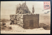 1930 Beirut French Lebanon RPPC Postcard Cover Watch Tower In Vineyard Syria