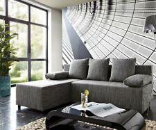Couch Janelle Grau 200x155 mit Schlaffunktion Ottomane variabel Ecksofa DELIFE