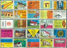 25 alte Gasthaus-Streichholzetiketten aus Deutschland #906