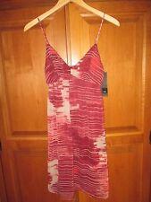 NWT Mossimo Burgundy Wine Beige Chiffon Spaghetti Strap Dress Size XS $25
