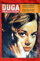 JANE FONDA ON COVER 1963 VERY RARE EXYU MAGAZINE