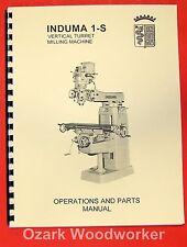 INDUMA 1-S Vertical Turret Milling Machine Parts Manual 0368