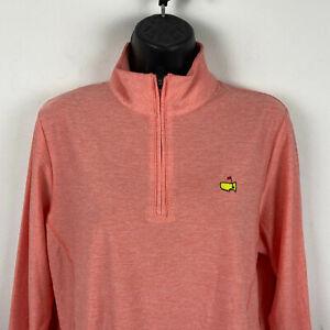 Masters Golf Logo Magnolia Lane Women Peach Golf Pullover Jacket Long Sleeve L