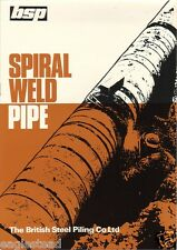 Equipment Brochure - British Steel Piling - Spiral Weld Pipe - c1970's (E1710)