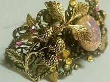 Artisan West Germany fire opal crystal bracelet Victorian Vintage antique style