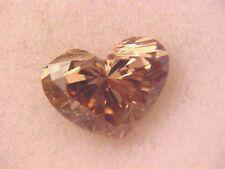 GENUINE HEART CUT NOT ENHANCED DIAMOND VVS CLARITY C-3 CHAMPAGNE .35 CT