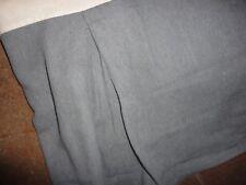 "Park B Smith Gray Faux Wool King Bedskirt 13"" Drop Split Corner 100% Cotton"