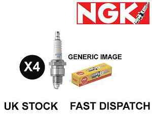 4 X NGK COPPER NICKEL SPARK PLUGS 6410 B5ES LANDROVER  SERIES I,II,III 2.3