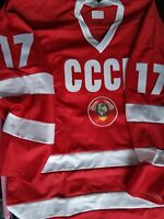 Kharlamov #17 USSR CCCP Russian Hockey Replica Jersey Russia embroidered