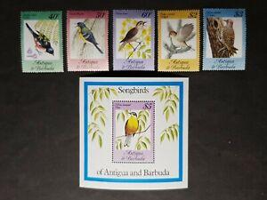 Antigua: 1984 Song Birds complete mint set incl. miniature sheet