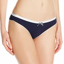 EMPORIO ARMANI SOLID COTTON THONG LOW RISE SOFT PANTY BLUE #162948 MEDIUM $36