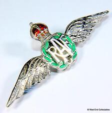 1930s Royal Air Force SILVER & Enamel Sweetheart Brooch Badge - RAF #A008