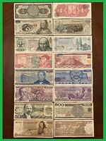 LOT 8 MEXICO PESO BANKNOTES SERIES 1,5,10,20,50,100,500,1000 BDM MEXICO BILLS