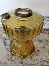 Aladdin Model B Corinthian Amber Glass Oil Lamp Font Made In 1935-36