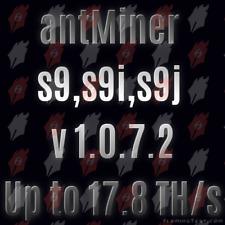 NEW (v1.0.7.2) Antminer S9, S9i, S9j Custom firmware
