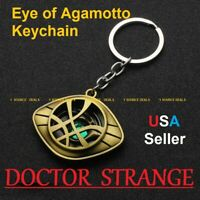 Marvel Avengers Doctor Strange Eye of Agamotto Keychain Metal Keyring Cosplay