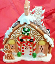 Partylite Christmas Candy Gingerbread Tealight House Decoration