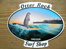Otter Rock surf shop surfboard sticker decal Oregon surfing longboard surfer yea