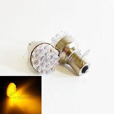 1156 Yellow Round 19 LED 2x Bulb #St2 P21W BA15s Front Rear Turn Signal Light