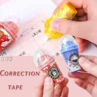 Cute Creative Stationery Correction Tape Milk Tea Cup Ice Cream School Supplies