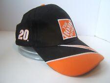 Tony Stewart 20 Home Depot Hat Black Nascar Racing Hook Loop Baseball Cap