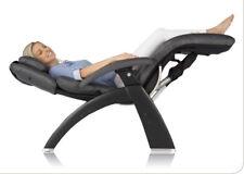 Espresso Leather PC LIVE 610 Human Touch Zero Gravity Perfect Chair Matte Black