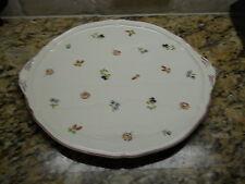 Villeroy & Boch Petite Fleur tab handled cake plate