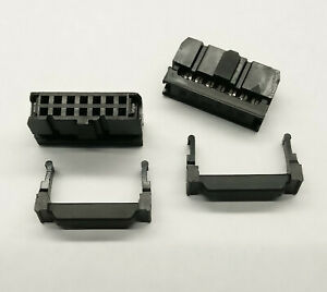 2 PCS. 14-Way IDC connector socket female 2.54mm for ribbon cable, 2-Row black