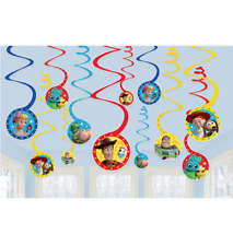 Toy Story Party Supplies - Toy Story Spiral/Swirl Hanging Decorations Pack of 12