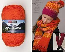 50g/1.76oz Superwash Wool SPORTSGARN Double Knitting yarn VIKING GARN #151