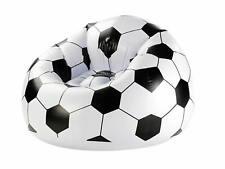 Fußball-Sessel Aufblasbarer Lesesessel Luftsessel Coach Sitzsack 70x94x94 cm