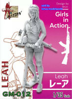ZLPLA Genuine 1//24 Girls in Action ILDA Resin Figure Assembly Model Kit GC-009
