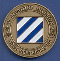 Medaille 3d Infantry Division Rock of the Marne Nous Resterons La Ø 40 mm A13/19