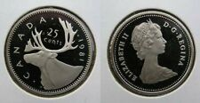 1981 Canada Frosted 25 Cent Caribou Quarter Proof