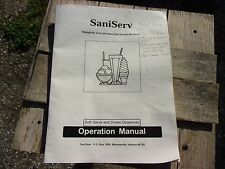 Saniserv A4011E Commercial Soft Serve Ice Cream Machine Operation Manual Owners