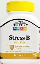 21st Century Stress B com zinco 66 Cápsulas-Exp data 01-2023 -