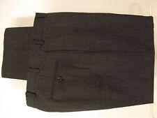 Brooks Brothers 346 Mens Charcoal Flat Front Dress Pants 33x31.5