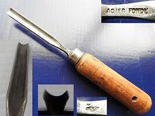ancien outil ciseau a bois *gouge de sculpteur menuisier creuser GOLDENBERG 11mm