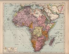 Landkarte map 1905: AFRIKA. Sahara Madagaskar