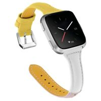 Genuine Leather Wrist Watch Band Strap for Fitbit Versa - Free Shipping
