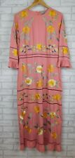 ASOS Tall Maxi dress Pink, yellow, green floral embroidery print Size UK14